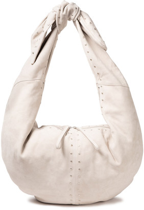 IRO Carrybearch Studded Suede Shoulder Bag