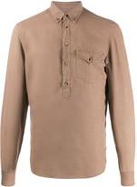 Brunello Cucinelli plain linen shirt