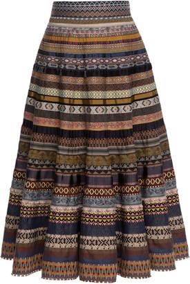 Lena Hoschek Opulence A-Line Ribbon Skirt