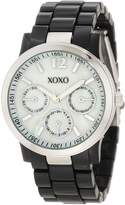 XOXO Women's XO5519 Black Bracelet with Silver Case Watch