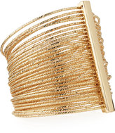 Kenneth Jay Lane Multi-Row Bangle Bracelet, Gold