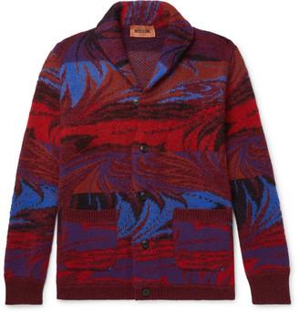 Missoni Shawl-Collar Wool-Blend Jacquard Cardigan