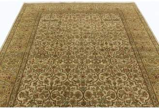 """Schiff Canora Grey One-of-a-Kind Oriental Hand-Knotted 5'2"""" x 9' Wool Ivory Area Rug Canora Grey"""