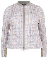 Basler Zip-Up Jersey Tweed Jacket