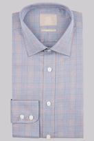 Savoy Taylors Guild Regular Fit Navy & Orange Single Cuff Check Shirt