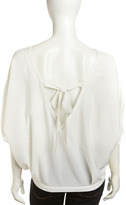 Chelsea Flower Embroidered Dolman-Sleeve Top