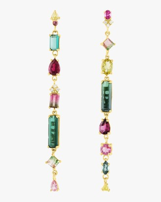 Of A Kind Eden Presley Mixed Tourmaline Earrings