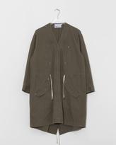 Alexander Wang Twill Coat w/ Gathered Waist