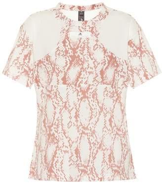 adidas by Stella McCartney Printed cotton-blend T-shirt