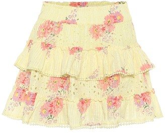 LoveShackFancy Bliss floral cotton miniskirt
