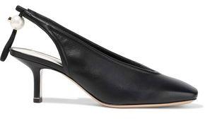 Nicholas Kirkwood Delfi Faux Pearl-embellished Leather Slingback Pumps