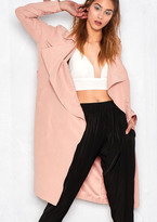 Missy Empire Drema Pink Light Trench Coat