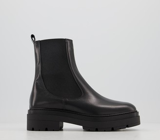 Office Accuse Chunky Chelsea Boots Black Leather