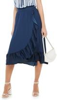 Elle Women's Ruffle Wrap Skirt