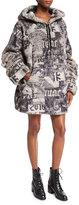 FENTY PUMA by Rihanna Hooded Oversized Faux-Fur Jacket, Gray