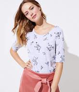 LOFT Petite Floral Vintage Soft Sweatshirt Tee