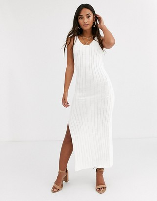 In The Style ribbed maxi dress