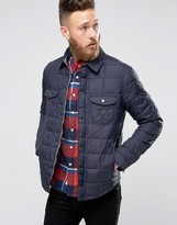 Lee Quilted Shirt Jacket Navy Darkness