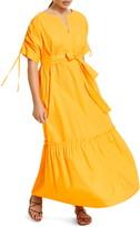 Marina Rinaldi Decaedro Cotton Poplin Maxi Dress