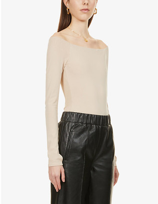 Alice + Olivia Off-the-shoulder stretch-woven body