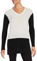 Vince Camuto Waffle-Knit Colorblocked Sweater