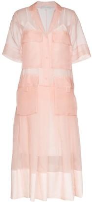 Lee Mathews Callie sheer shirt dress