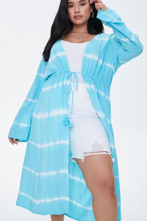 Forever 21 Plus Size Tie-Dye Kimono