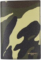 Givenchy camouflage print passport holder