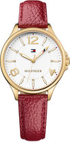 Tommy Hilfiger Women's Table Burgundy Leather Strap Watch 36mm 1781719