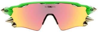 Vetements Orange and Green Oakley Edition Spikes 200 Radar EV Sunglasses