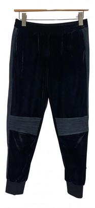 Zoe Karssen Black Velvet Trousers