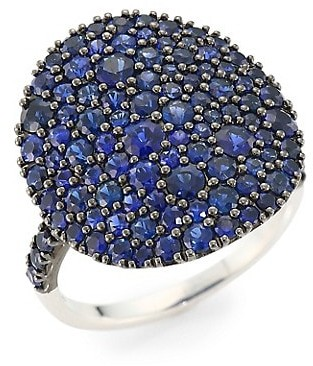 Etho Maria Vibrant 18K White Gold & Blue Sapphire Cocktail Ring