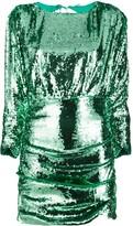 For Love & Lemons Sequin Ruched Mini Dress