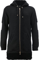 Balmain long hooded sweatshirt - men - Polyamide/Wool - M