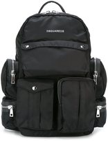 DSQUARED2 'Utilitary' backpack - men - Calf Leather/Nylon - One Size
