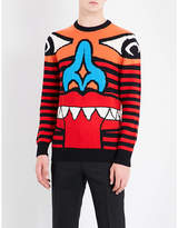 Givenchy Monster Face Wool Jumper