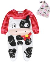 Tenworld Unisex Newborn Baby Romper Bodysuit+Cap Jumpsuit Outfits Set
