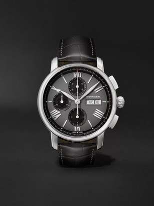 Montblanc Star Legacy Automatic Chronograph 43mm Stainless Steel And Alligator Watch, Ref. No. 126081
