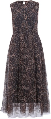 Brunello Cucinelli Embroidered Dress