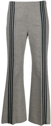 Maison Margiela Houndstooth Piped Flared Trousers