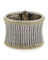 Konstantino Sterling Silver & 18K Tower Cuff Bracelet
