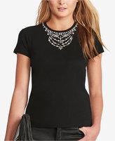 Polo Ralph Lauren Jeweled-Neckline T-Shirt