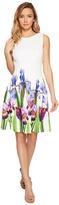 Calvin Klein Fit Flare Dress with Floral Border Print CD7MFA6U Women's Dress