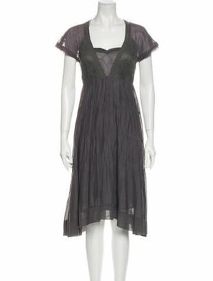 Isabel Marant Square Neckline Knee-Length Dress Grey