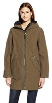 Mackage Women's Anorak with Hood and Leather Detail