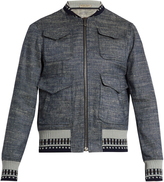 Bottega Veneta Contrast-trim chambray jacket