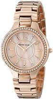 Anne Klein Women's AK/1854RMRG Swarovski Crystal Accented Rose Gold-Tone Bracelet Watch