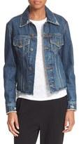 Vince Women's Cutoff Denim Jacket