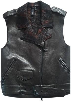 Edun Black Leather Leather jackets