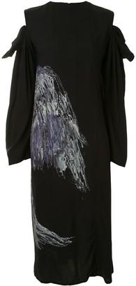 Yohji Yamamoto Sketch Print Dress